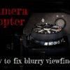 camera diopter adjustment